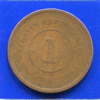 Стрейтс Сетлментс 1 цент 1887
