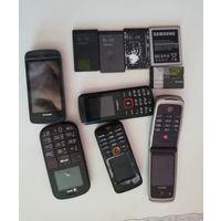 Телефоны и батареи на запчасти