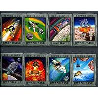 Руанда - 1970г. - Аполлон - 13. Космос - полная серия, MNH [Mi 414-421] - 8 марок