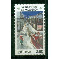 Сент-Пьер и Микелон 1993 ** Рождество Дед Мороз