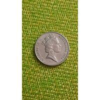 Австралия 10 центов 1994 г ( средней возраст ,пореже )