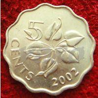 7804:  5 центов 2002 Свазиленд