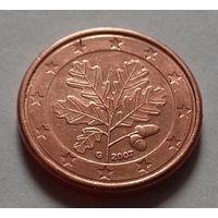 1 евроцент, Германия 2007 G