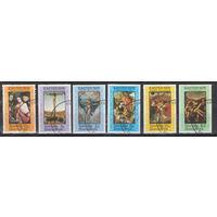 Гренада Гренадины Пасха Иисус Христос картины художников Рафаэля Дюрера и других 1976 год гашеная серия из 6-ти марок