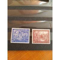 1947 Союзная оккупация Германии общий выпуск мих941IA-942IA оценка 80 евро чистая MNH** зубц Лин. 13 искусство галерея(5-2)