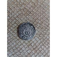 Монета 1/24 талера серебро RUDOL II D G R I S / 1609 / 1/24 SIMO C EN DСимон VI (1563-1613)