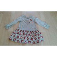 Платье с длинным рукавом на девочку 2-3 года