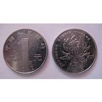 Две монеты по 1 юаню, Китай (КНР) 2012 и 2013 гг.