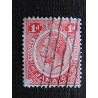 Английская Ямайка 1912 г. король Георг  V.
