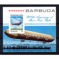 1983 Барбуда. 200 лет первому полёту на воздушном шаре