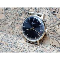 Часы Луч,позолота au10,редкий лучеватый циферблат.Старт с рубля.