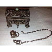 Серебрянная ажурная шкатулка 1873 года. Редкость! Отличный подарок!