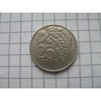 Тринидад и Тобаго 25 центов 1979г.km32