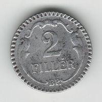 Венгрия 2 филлера 1940 года. Железо. Нечастая!