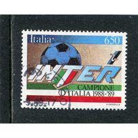 Италия. Футбол. Интер победитель 1988-99