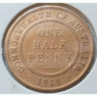 Австралия 1/2 пенни, 1919