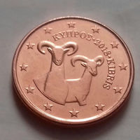 1 евроцент, Кипр 2018 г., UNC
