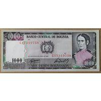 1000 боливиано 1982 года - Боливия - UNC