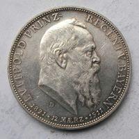 Германия, Бавария, 5 марок, 1911, серебро