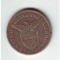 Филиппины (колония США ). 50 центов 1908 г. (серебро)