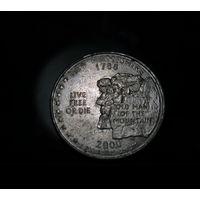 США 25 центов (квотер) Нью Хэмпшир 2000