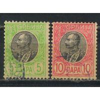 Сербия Кор 1905 Петр I Стандарт ВЗ= #85у,86у