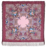 Павловопосадская шаль (платок) 125*125 шерсть 100%