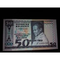 Мадагаскар. 50 франков 1974г, UNC
