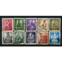 Испания - 1954 - Марианский год. Религия. Искусство - [Mi. 1028-1037] - полная серия - 10 марок. Гашеные.  (Лот 74o)