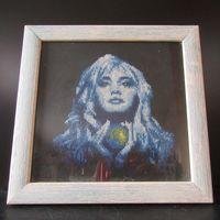 Лунная Соната Вышивка крестиком Картина под стеклом в деревянной рамке