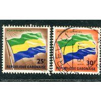 Габон. Флаг. Служебные марки