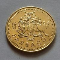 5 центов, Барбадос 1994 г., AU