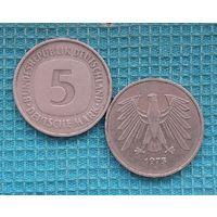 Германия 5 марок 1975 года. Монетный двор F.