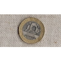 Франция 10 франков 1989 /биметалл/