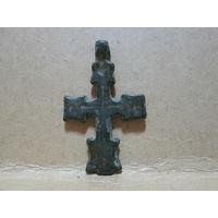 Крест старинный 15-16 в.бронза 4,2х2,5 см