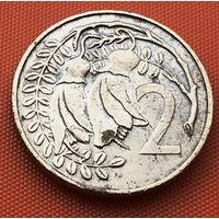 116-02 Новая Зеландия, 2 цента 1982 г. Единственное предложение монеты данного года на АУ