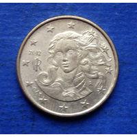 Италия 10 евроцентов 2012