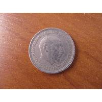 5 песет 1957 (58) Испания КМ# 786 медно-никелевый сплав #102