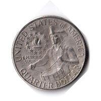 США. 1/4 доллара (1 квотер, 25 центов). 1976. 200 лет независимости США. D