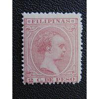 Испанская колония Филиппины 1896 г. Король Альфонс XIII.