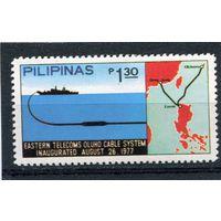 Филиппины. Прокладывание кабеля по дну моря