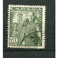 Испания - 1954 - Генерал Франко - [Mi. 1039] - полная серия - 1 марка. Гашеные.  (Лот 75o)