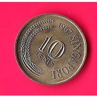 26-34 Сингапур, 10 центов 1967 г.