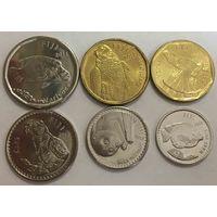 Фиджи.  набор 6 монет 5 10 20 50 центов  1 и 2 доллара 2012 - 2014 год