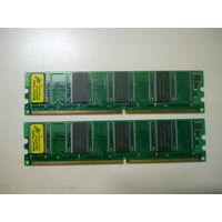 Оперативная память DDR1 Hynix PC-400 (PC-3200), 2 планки по 128 Mb.