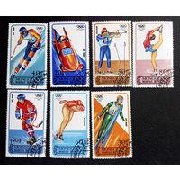Монголия 1988 г. Олимпиада. Калгари. Спорт , полная серия из 7 марок #0060-С1P10