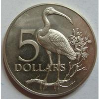 Тринидад и Тобаго 5 долларов 1972 г