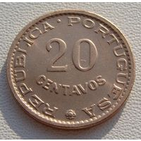 "Ангола ""Португальская"". 20 сентаво 1962 год  KM#78"