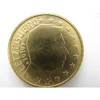 Люксембург 50 центов 2010 г. UNC!