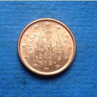 Испания 1 евроцент 2017